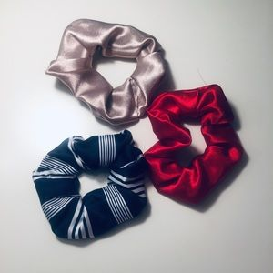 3 Pack Handmade Silk Scrunchies